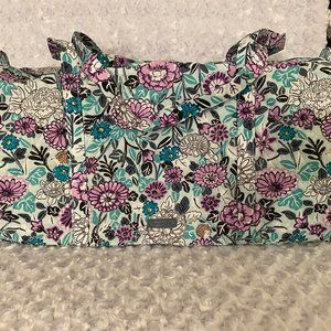 Vera Bradley Purple/Aqua Floral Large Traveler